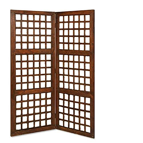 Shilpi Handcrafted Small Wooden Room Partition Wooden Room Divider Screen Panel  48 X 20 INCH   2