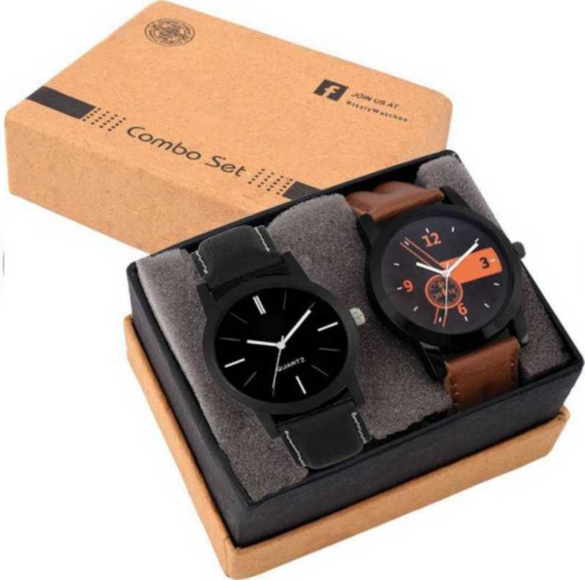 Swadesi Stuff Analog Brown Black Color Luxury watches combo for Men Boys lorem 1 ,4