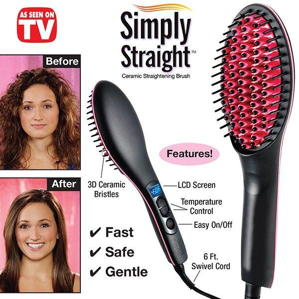 Simply Straight Straightning Brush 2 in 1 Hair Straightener