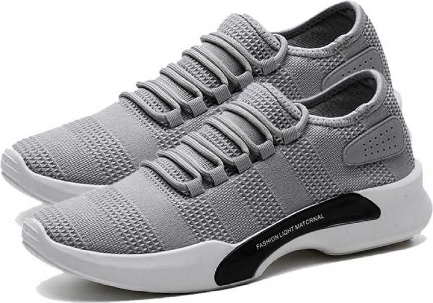 AADI Men's Grey Mesh Running Sport Shoes