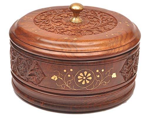 aTOzCRAFTS Wooden Chapati Box Casserole