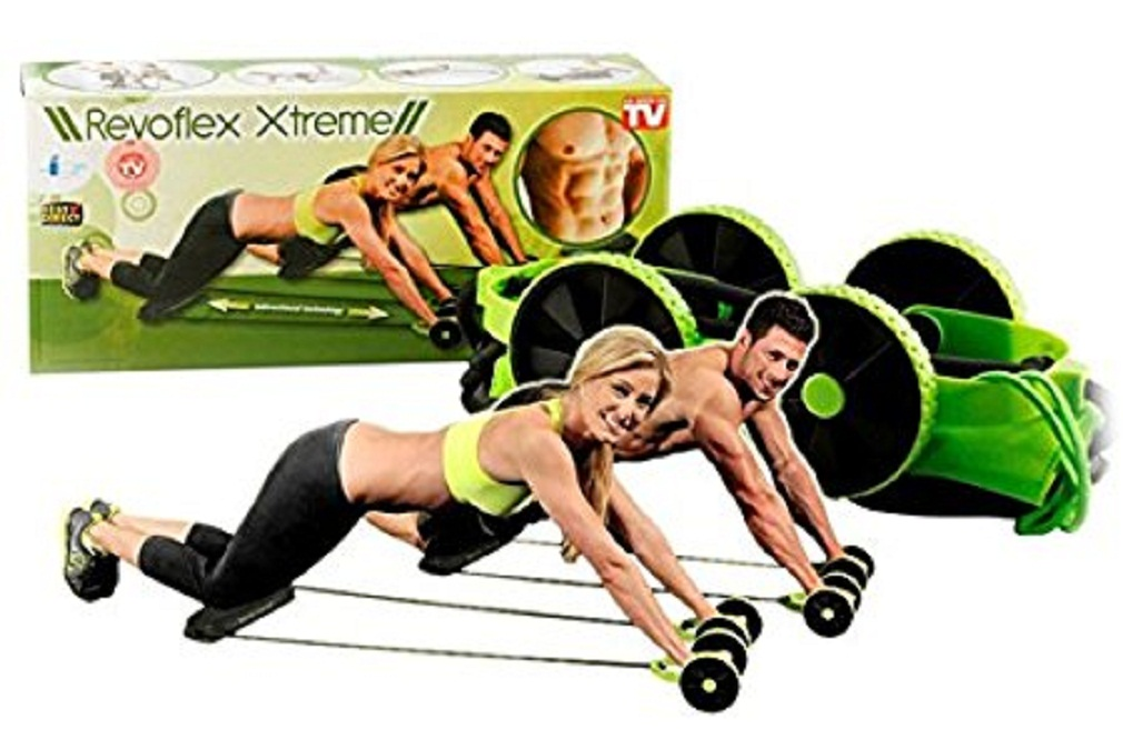 Shopper52 Revoflex Xtreme Fitness Exerciser Resistance Tube Ab Slimmer For Complete Body Workout Machine   RVOFLXTR