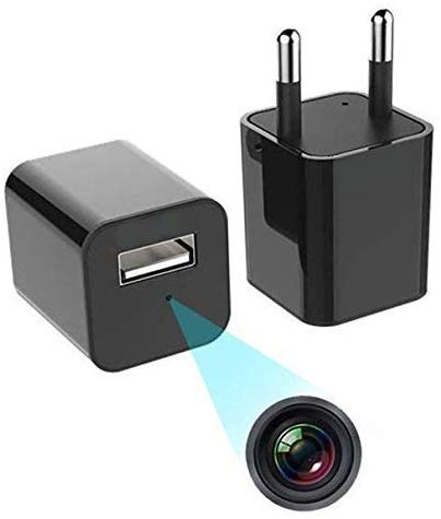 USB Charger 2 in 1 HD 1080p Hidden Spy Camera with USB Plug Charger CCTV with SD Card Slot