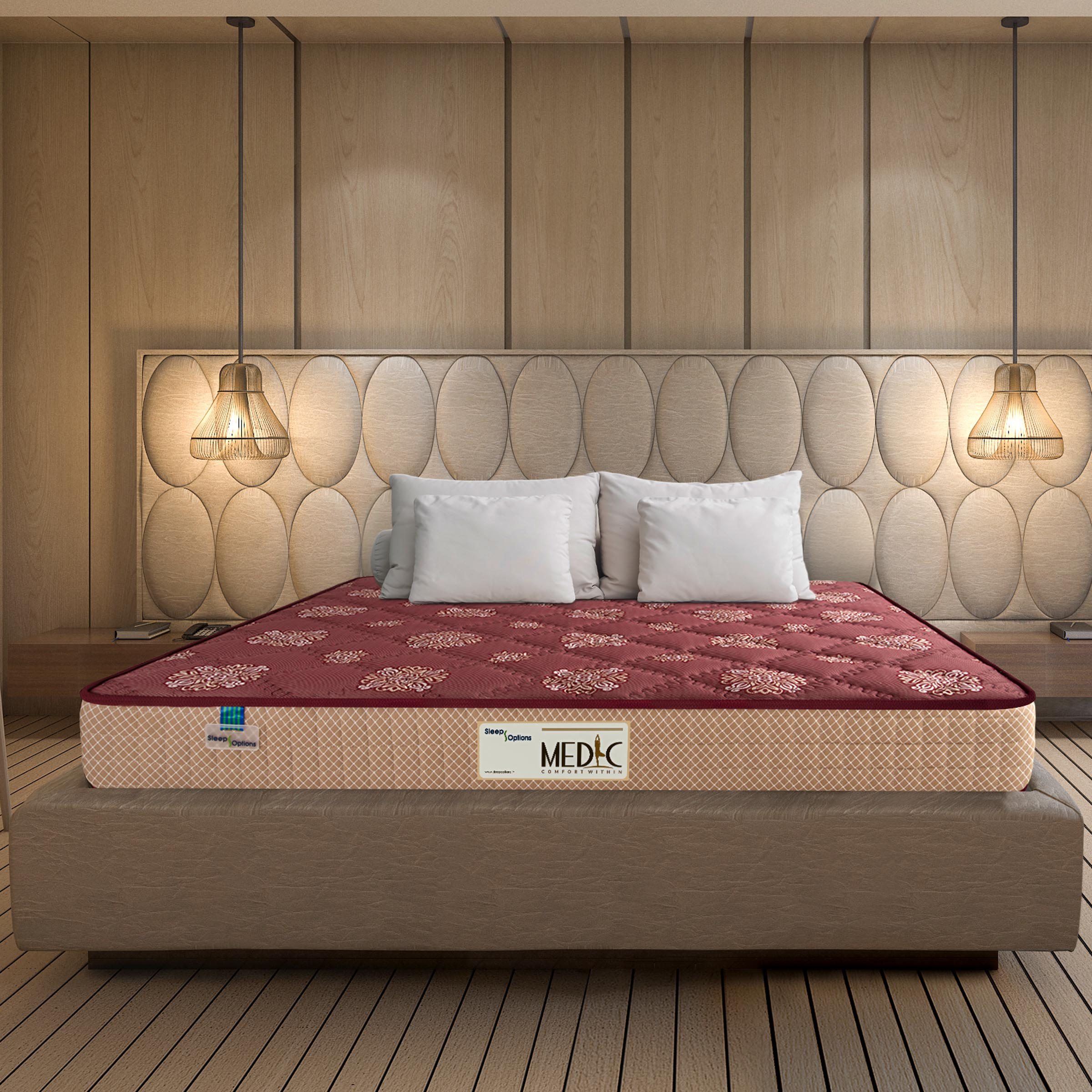 Sleep Options Medic  Orthopedic Medium Firm Normal Top 6 Inch Bonnell Spring Mattress  72x30x6 Inch,Single Size