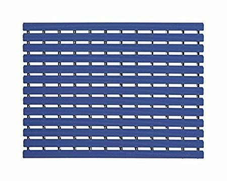Caspvc Naxan Fabsouk Shower Mat By Casanest Bath Mat  61 X 45 Cm  Anti Slip Skid Proof For Bathroom And Wet Area Marine Blue Color