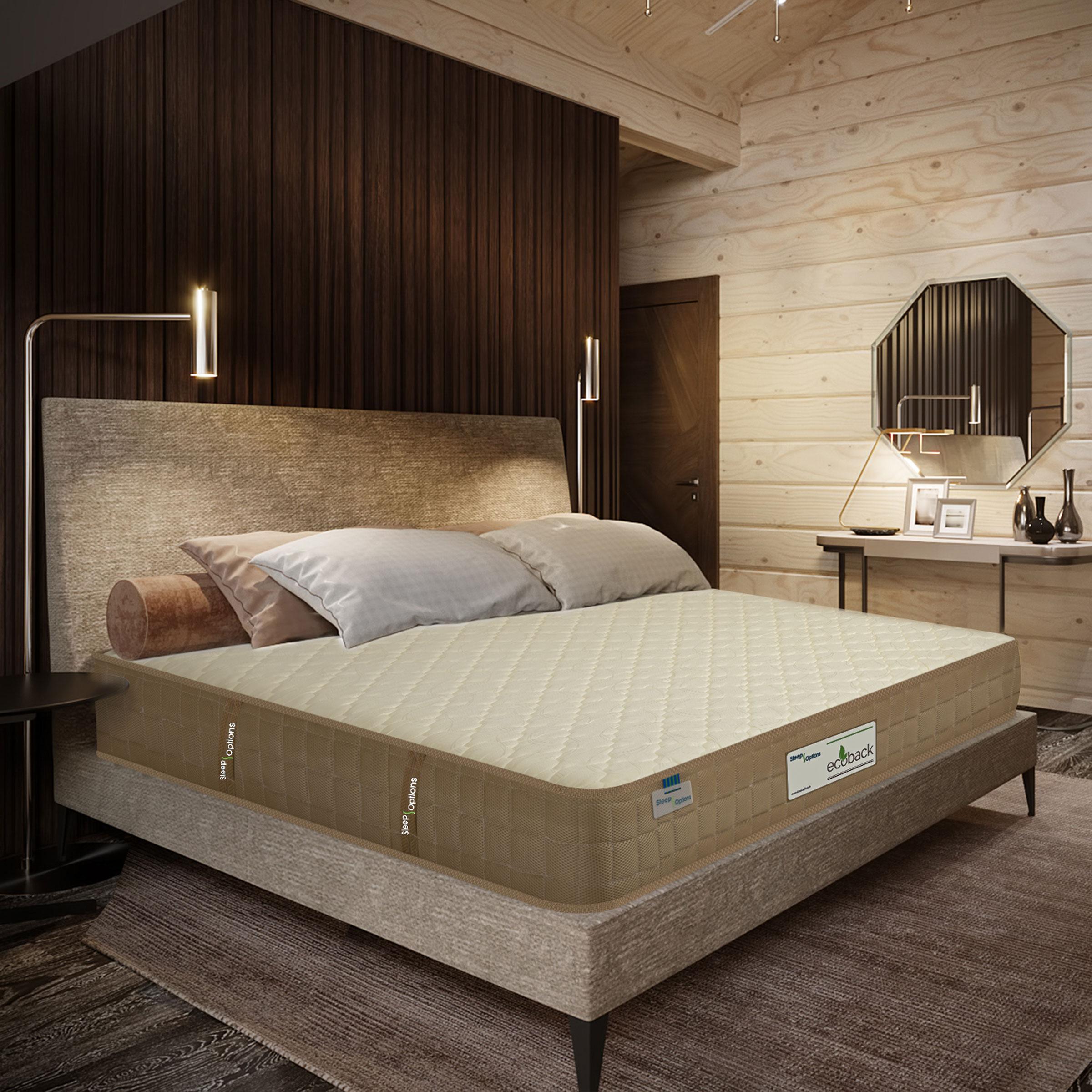 Sleep Options Ecoback  Dual Comfort Medium Firm Normal Top 5 Inch Foam Mattress  72x72x5 Inch,King Size