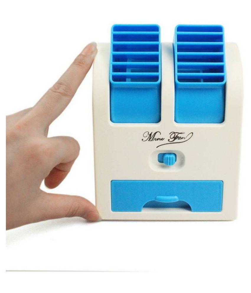 Mini USB Fragrance Air Cooling Fan, Portable Desktop Air Conditioner Mini Air Cooler Mix Colour PowerCode C45