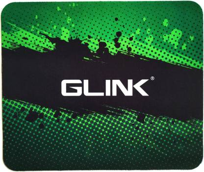 Glink Mouse Pad Gaming Laptop Computer Green And Black 24X20 Cm Size Mousepad  Multicolor