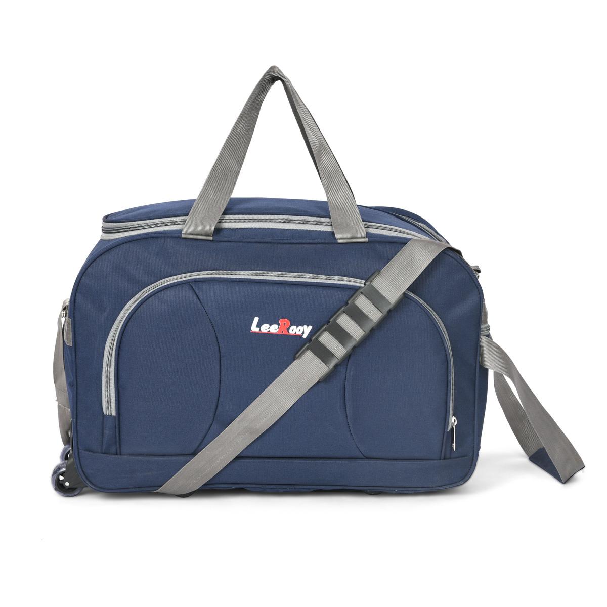 Leerooy  Expandable  Dt Bag 3 Blue Vg8 Travel Duffel Bag  Blue