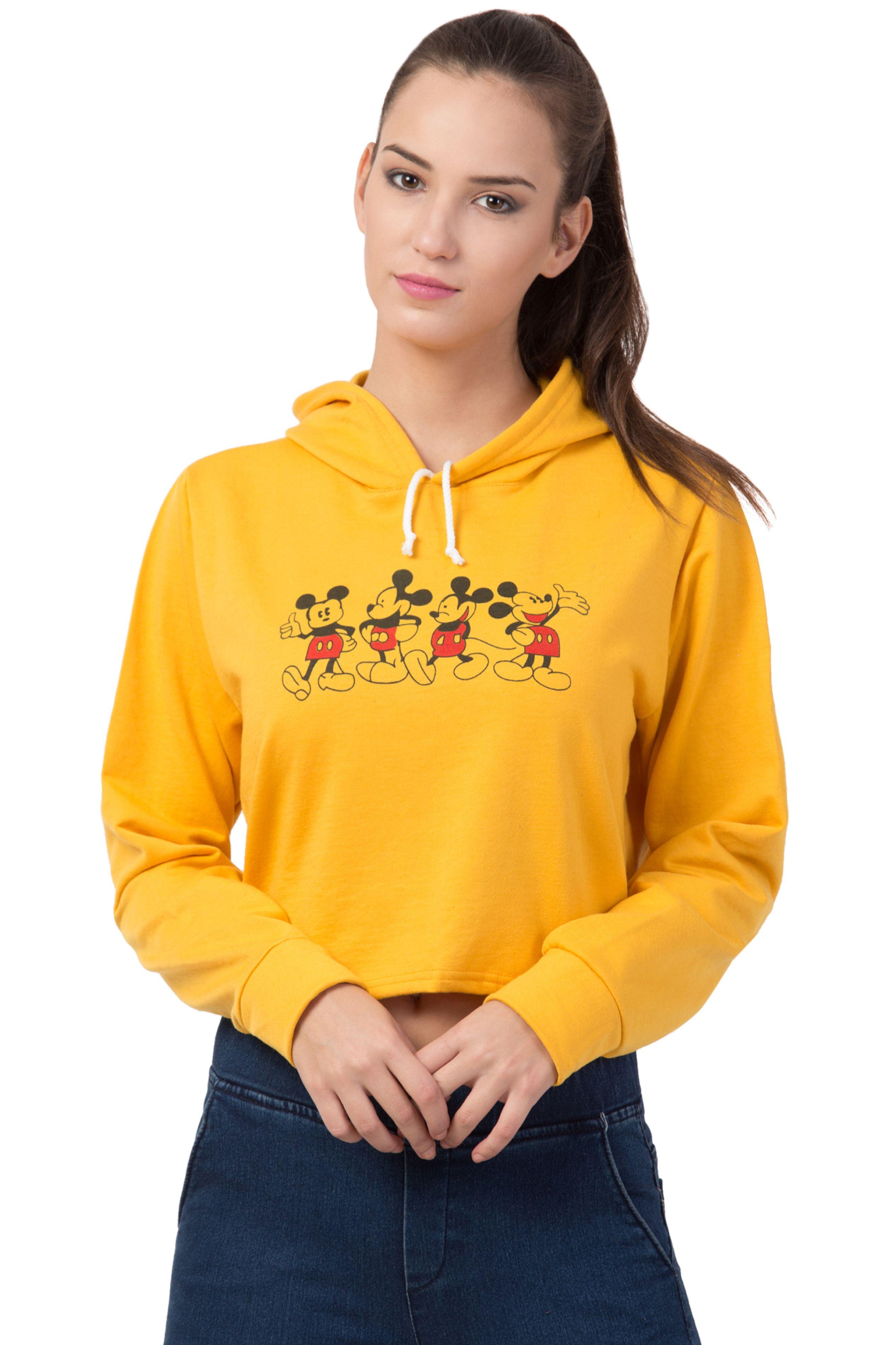 Bestic Fashion Full Sleeve Mickey Printed Women Sweatshirt Hoodies