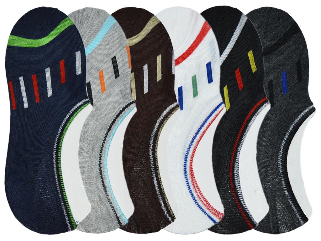 Me Stores Loafer Socks No Show Socks Ankle Socks Pack Of 6 Pair  Multicolour