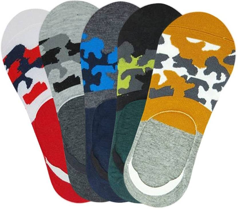 Men Women Printed Ankle Length Socks  Pack Of 5  Cammey