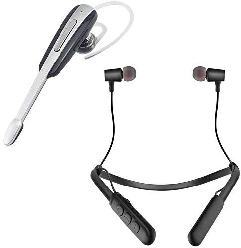 Shopking Wireless Bluetooth Hm1000 In Ear Headset With B11 Wireless Magnetic Bluetooth Neckband  Colour May Vary
