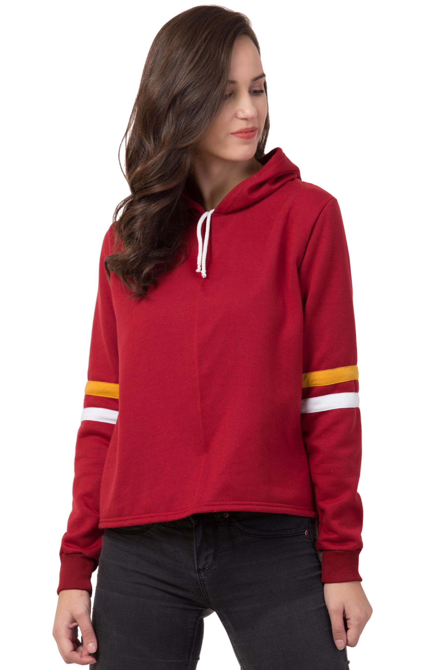 Bestic Fashion Full Sleeve Solid Women Sweatshirt Hoodies