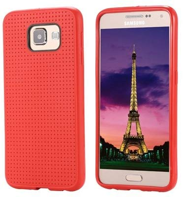 Gadgetworld Luxury Dotted Back Case Cover For Samsung Galaxy S6 Edge  Red