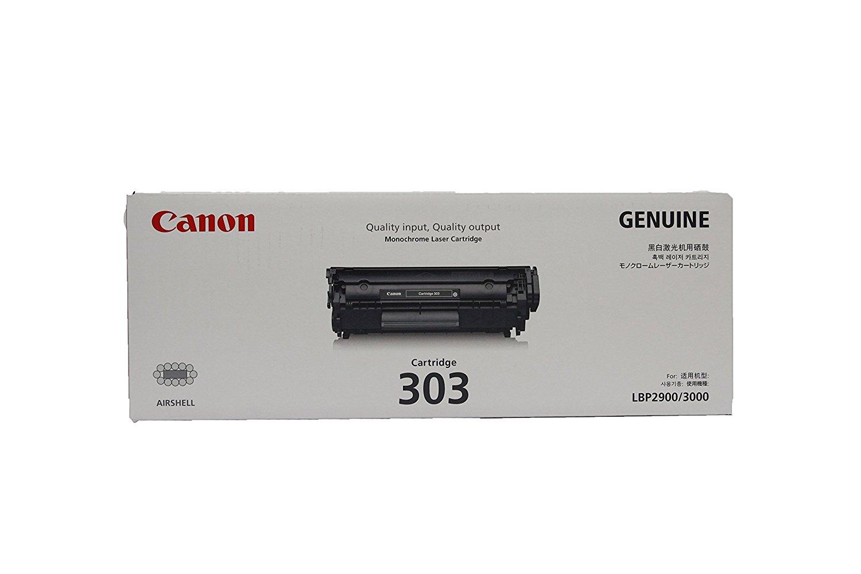 Canon Original 303 Black Toner Cartridge LBP 2900 / 3000