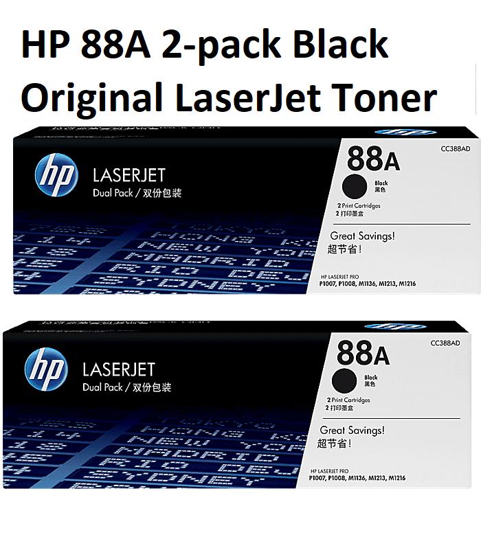 Hp 88A 2 Pack Black Original Laserjet Toner Cartridges