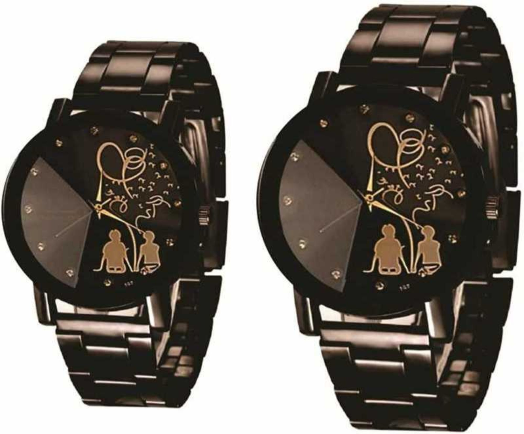Couple Stylish Tree Love Design Analog Watch Metal Combo Pd 13
