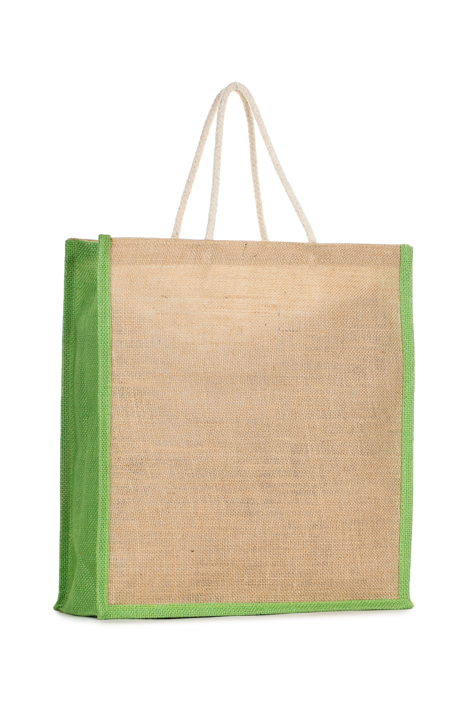 Trendy Trotters  Jute Fabric , Inner Vinyl Bags for Shopping, Lunch Boxes, Vegetables, Multipurpose  Light Green Plain