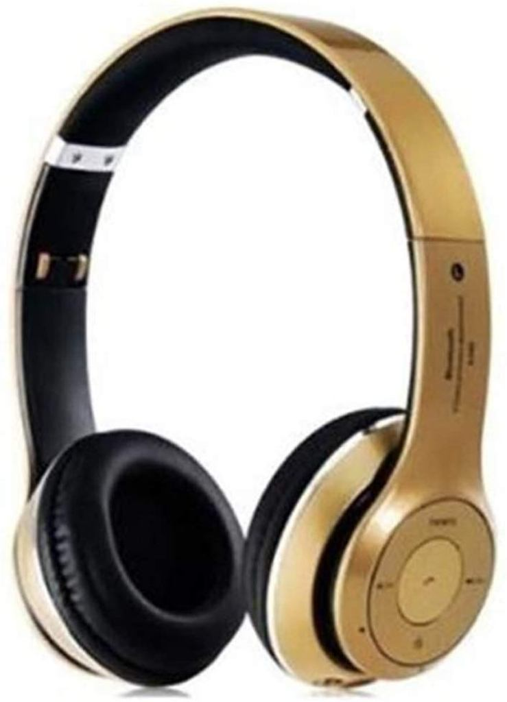 Calicovilla S460 Foldable On Ear Wireless Stereo Bluetooth Headphones Compatible With All Smartphones  Gold