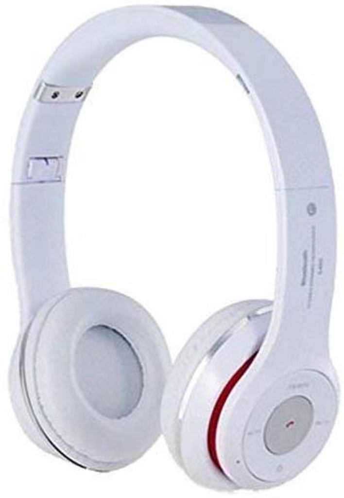 Calicovilla S460 Foldable On Ear Wireless Stereo Bluetooth Headphones Compatible With All Smartphones  White