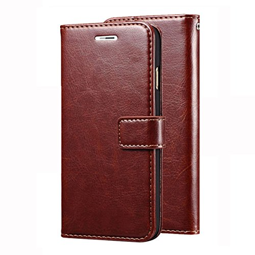 D G Kases Vintage Pu Leather Kickstand Wallet Flip Case Cover For Motorola Moto G3   Brown