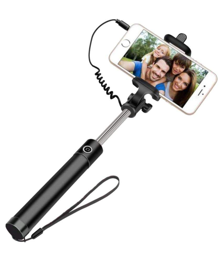 Exclusive Selfie Stick 3Rd Gen Wired Selfie Stick Monopod Holder With Aux Cable