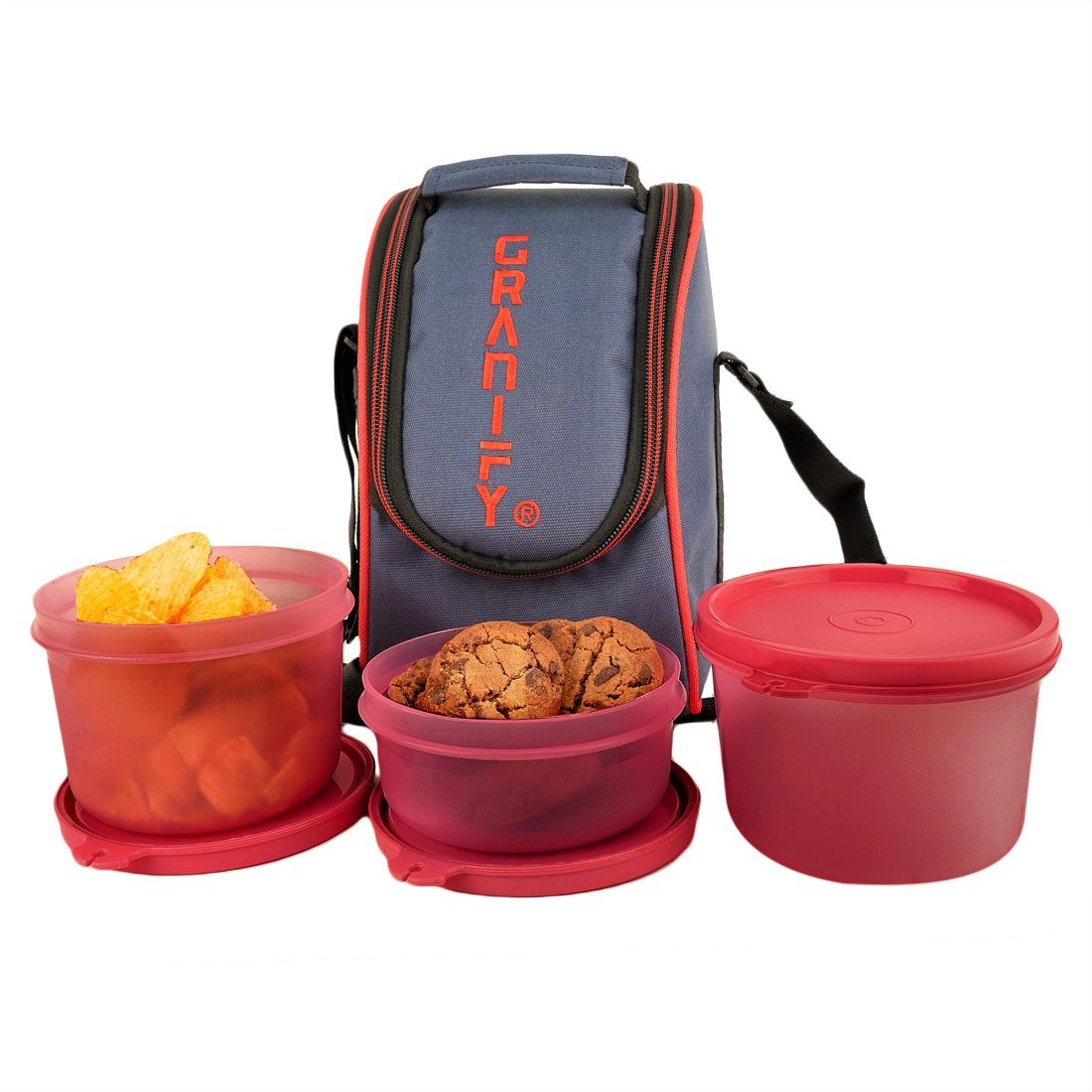 Granify Lunch Box   3 Containers With Bag Cover   A