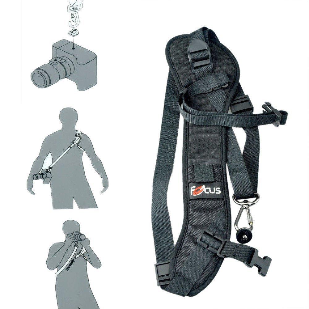 Focus F 1 Anti Slip Quick Rapid Shoulder Sling Belt Neck Strap For Camera Slr Dslr Black