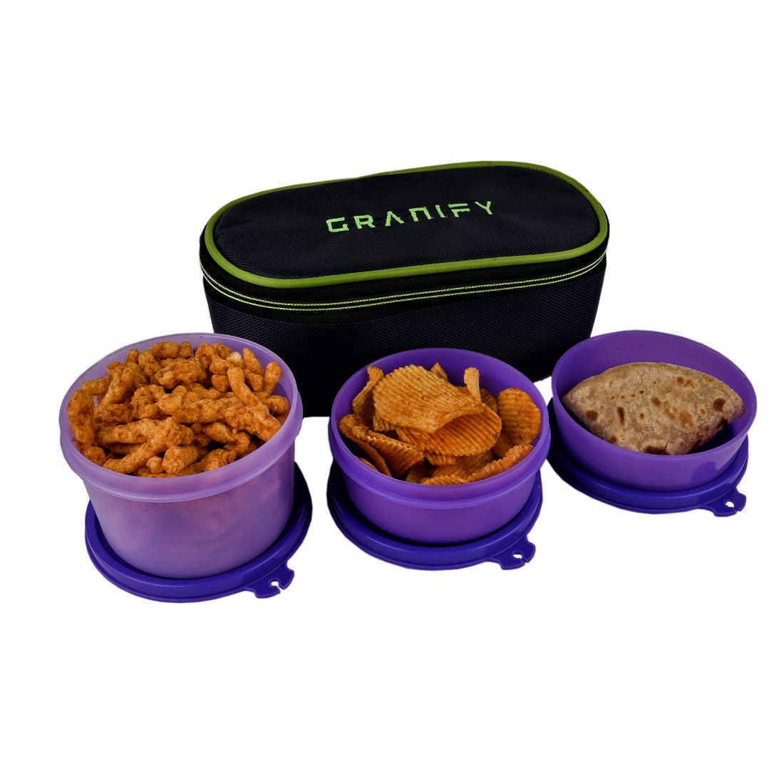 GRANIFY Lunch Box   3 Containers With Bag Cover   F