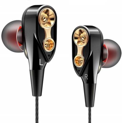 Lionix 4D Bass Earphone With Deep Bass Wired Headset with Mic Compatible with All 3.5mm Jack