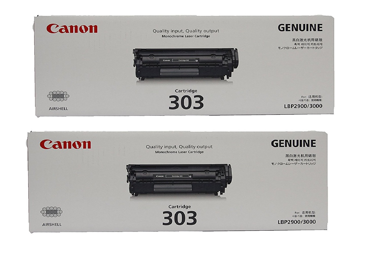 Canon 303 2 Pack Black Toner Cartridge