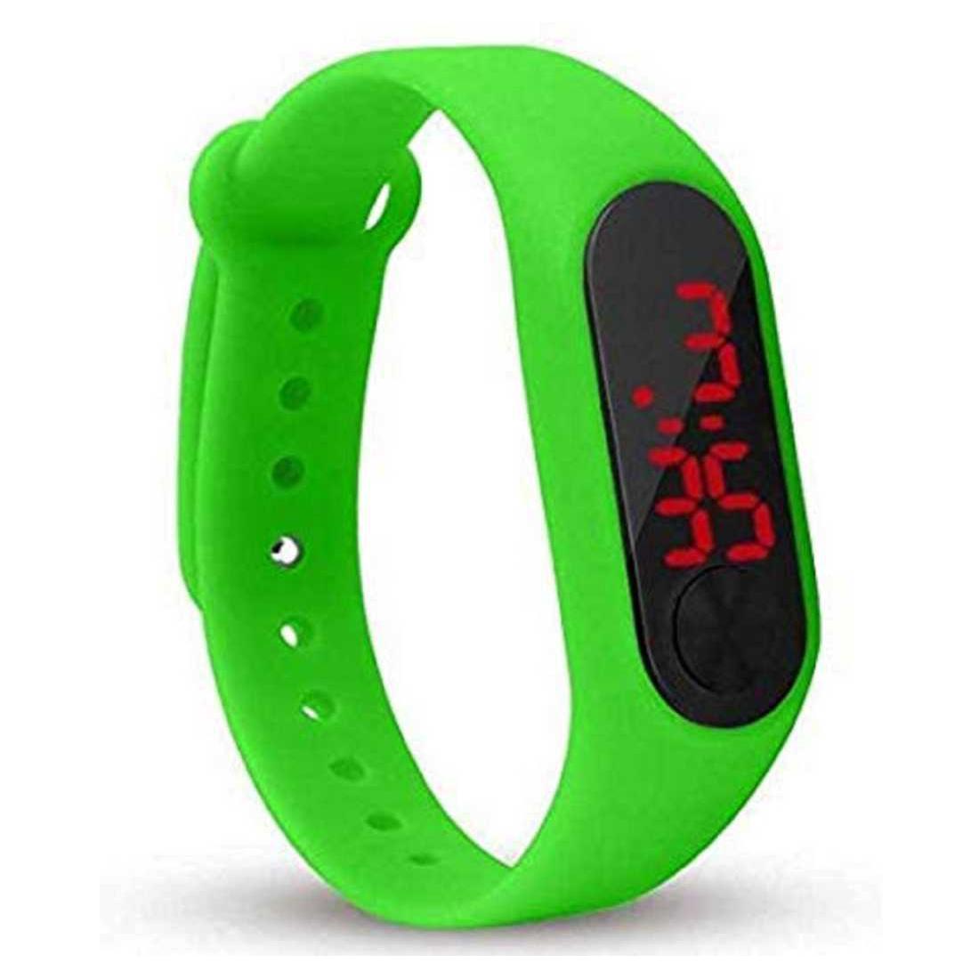 Varni Retail Rubber Magnet New LedGreen Digital Watch M2 LED RED   For Boys Girls