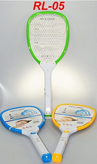 Rocklight Rechargeable Mosquito / Insect Killer Racket Bat With LED Torch