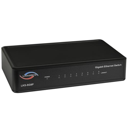 LinksKey LKS SG8P 8 port 10/100/1000Mbps Gigabit Ethernet Switch w/Green Technology