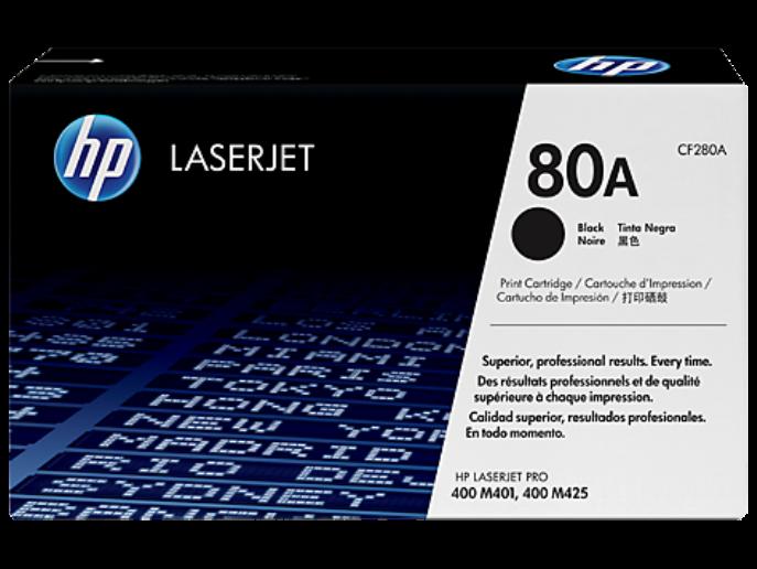 HP 80A Black Original LaserJet Toner Cartridge  CF280A