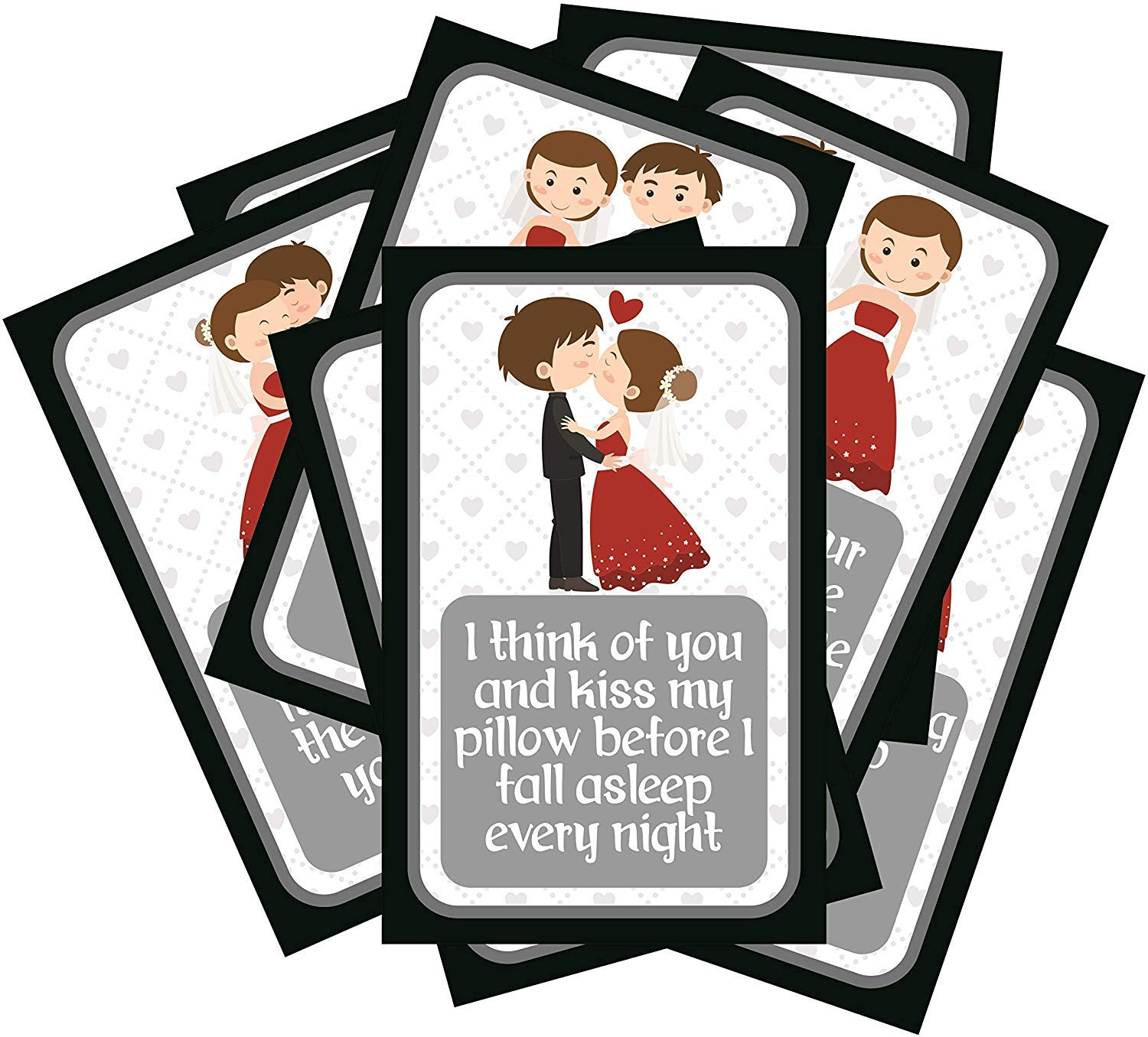 SC Set of 8 Exciting Lives Love Story Romantic Love Cards   for Birthday, and Valentine Day