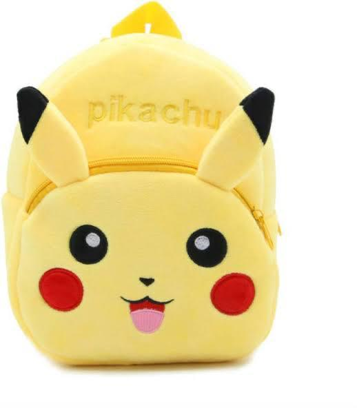 Proera Yellow Pikachu Polyester 4 Ltrs Kids Backpack ,School Bag, Nursery Bag Shoulder Backpack For Kids