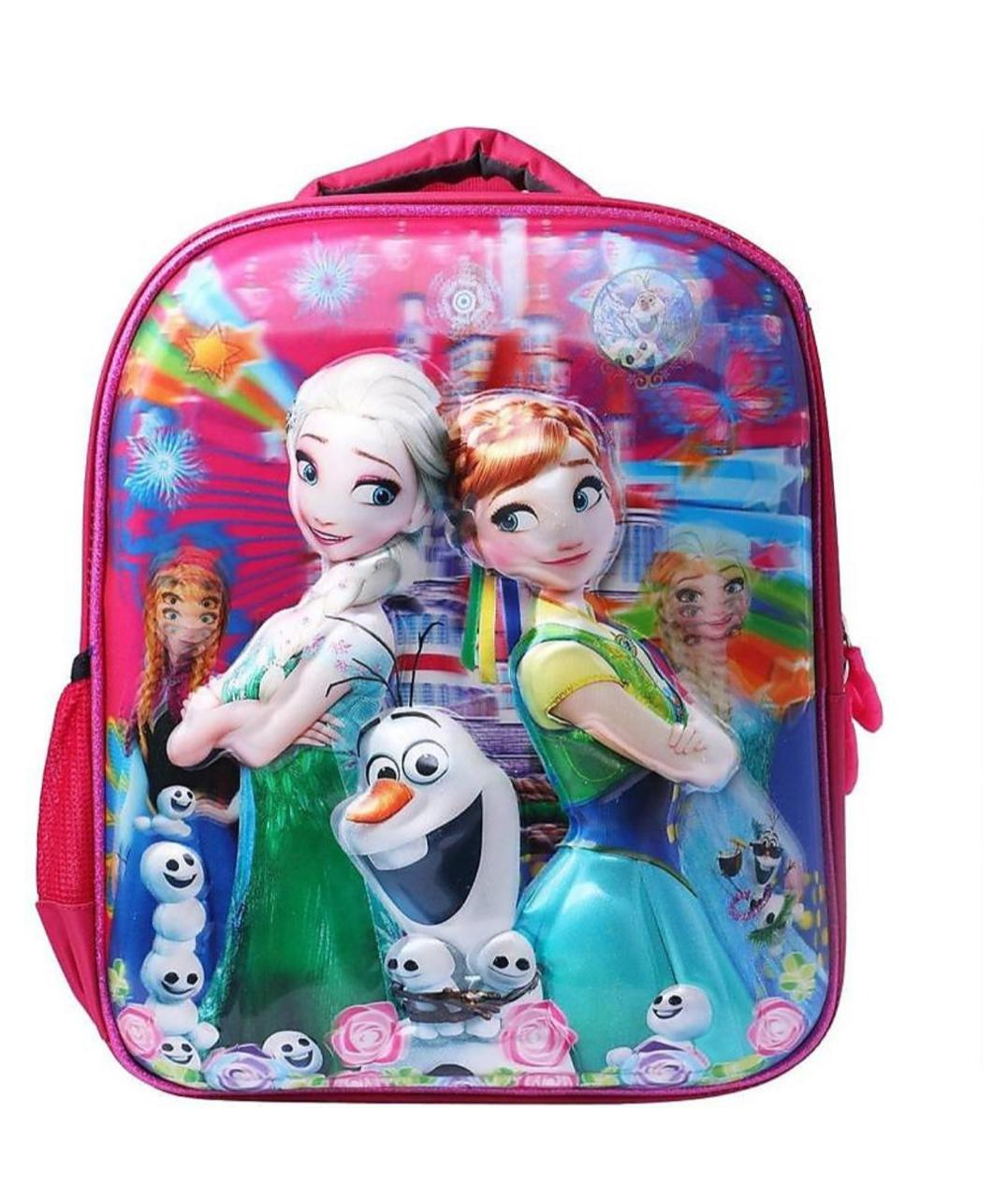 Proera Pink Bella 3d Embossed 4 Ltrs Kids Backpack ,School Bag, Nursery Bag Shoulder Backpack For Kids