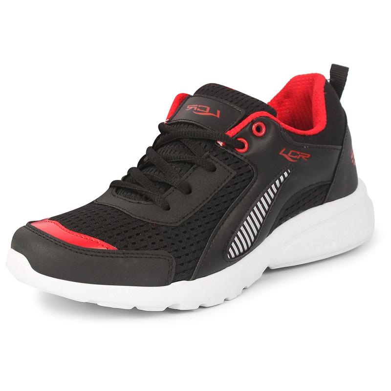 Lancer Men\'s Black Red Sports Running Shoes