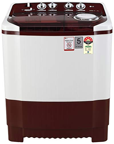 LG 8 Kg Semi Automatic Top Loading Washing Machine  P8035SRMZ Burgundy