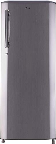 LG 270 L 3 Star Direct Cool Single Door Refrigerator GL B281BPZX Shiny Steel Smart Inverter Compressor
