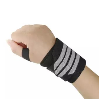 Gym Wrist Band with Thumb Support 1 Pair  Assorted Color