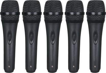 PACK OF 5 HISONIC PROFESSIONAL DYNAMIC MICROPHONES WITH WIRES