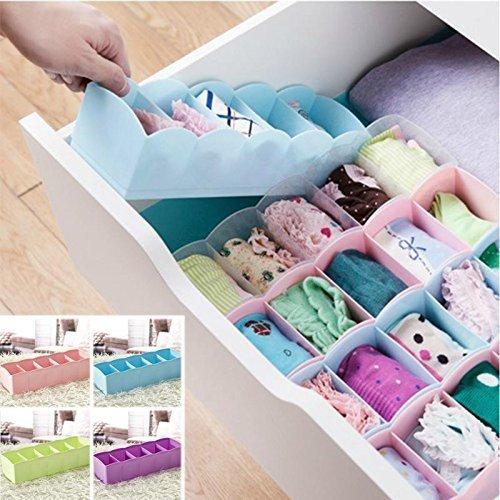ModishOmbre Socks Undergarments Storage Drawer Organiser Set of 4