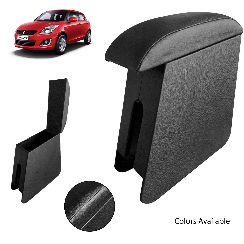 guruji system Custom Fit Wooden Car Center Armrest Console for Maruti Suzuki Swift 2015  Black