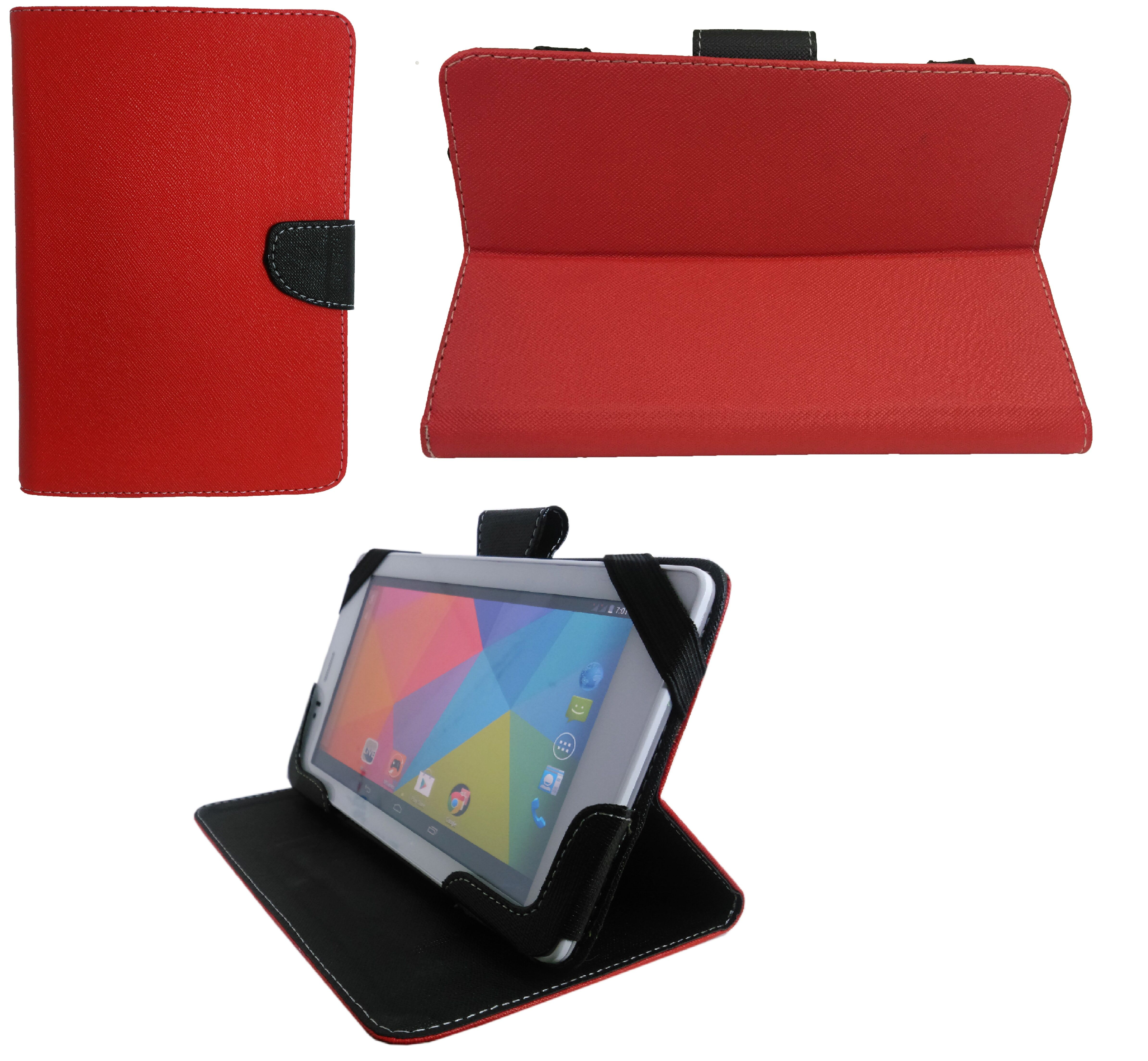 GADGETWORLD Luxury Mercury Book Cover for Lenovo Tab 2 A7 10  Red