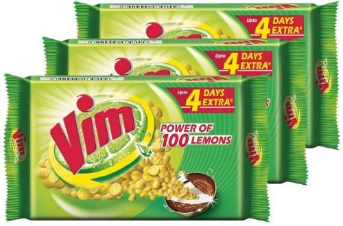 Vim Dishwash Bar  600 G, Pack Of 3