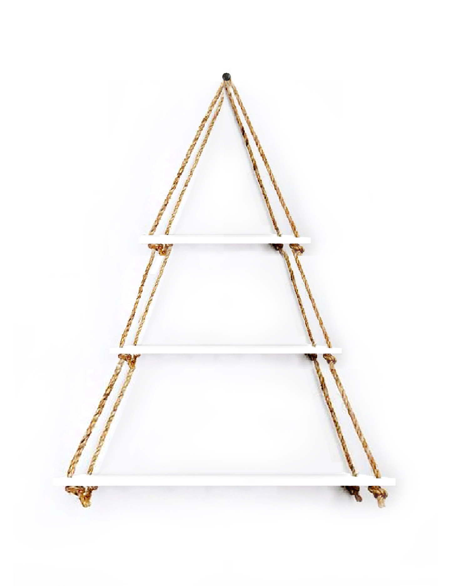 VAH Wall Hanging Shelf, Set of 3 Wood Floating Shelves for Wall Rustic Rope Shelves Plant Shelf Farmhouse Decor for Liv