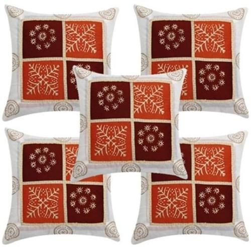 JABAMA Geometric Cushions Cover  Pack of 5, 40 cm x 40 cm, Multicolor